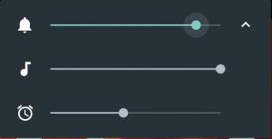 Lautstärkeeinstellungen in Android 6.0