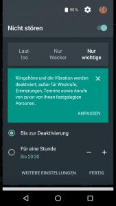 Nicht-Stören-Menü unter Android 6.0
